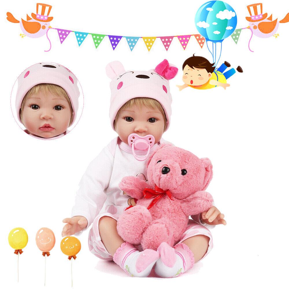 autorizzazione Reale Morbido Vinile Vinile Vinile RINATO bambino bambola bambole Appena Nato 22  Ragazza Giocattolo Giocattoli Regali di Compleanno  si affrettò a vedere