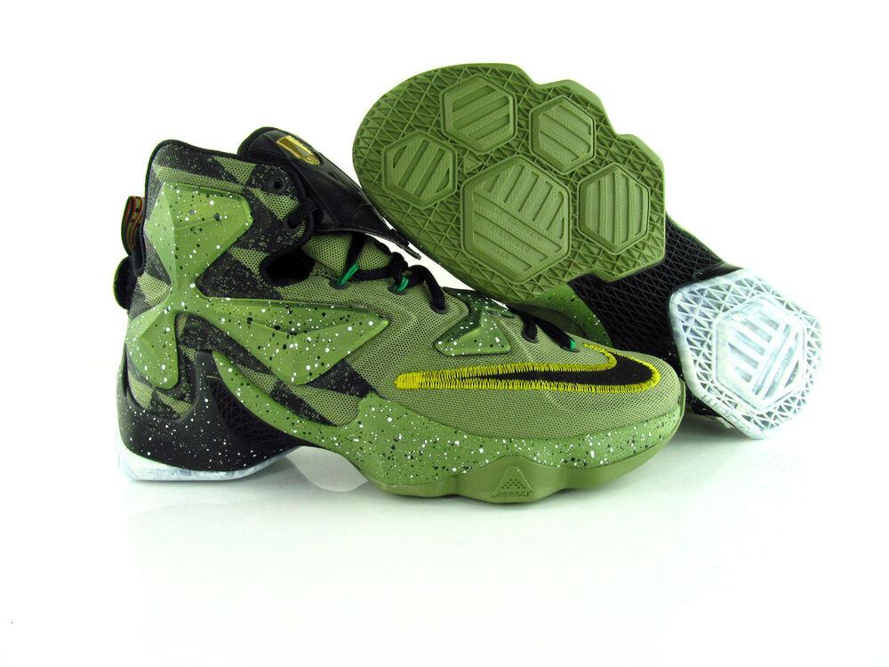 Nike Lebron xiii 13 as all-star game Alligator Noir Green us_7  Chaussures de sport pour hommes et femmes