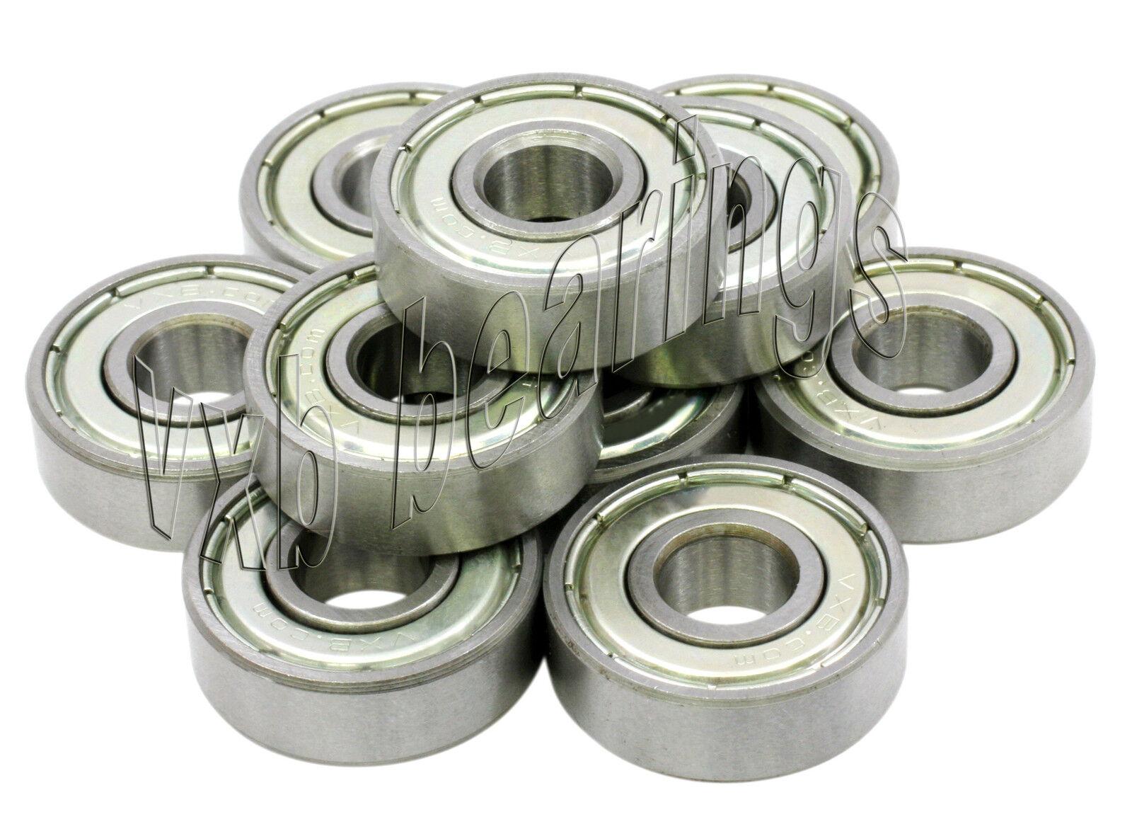 10 Bearing 6x16 Shielded 6x16x6 Miniature Ball Bearings 916