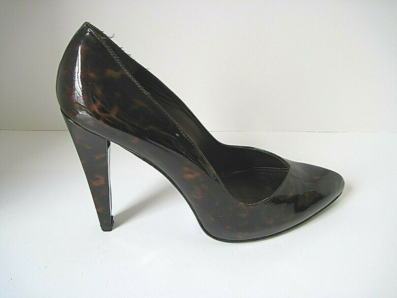 Stuart Weitzman Tortoise Patent Leather Pumps Heels Size 8 1 2 M