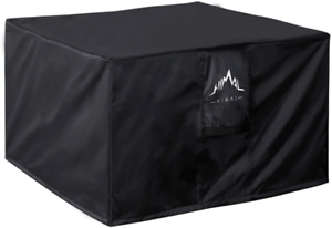 Himal Outdoors Fire Pit Cover - Heavy Duty Waterproof 600D Polyster With Thick P
