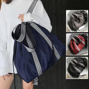 Convertible-Nylon-Shoulder-Bag-Tote-Drawstring-Backpack-Large-Purse-Sport-Bag