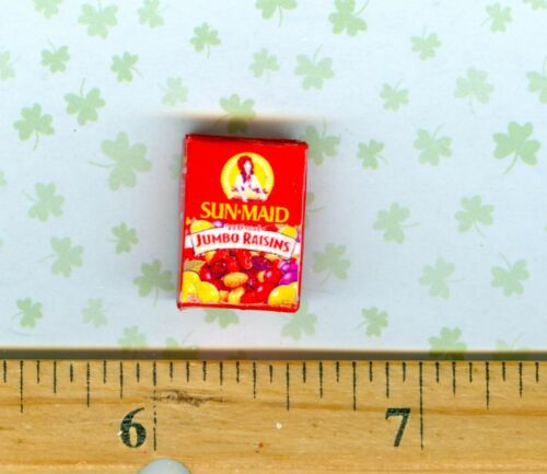 Dollhouse Miniature Size Jumbo Raisin Box Good for Snacking