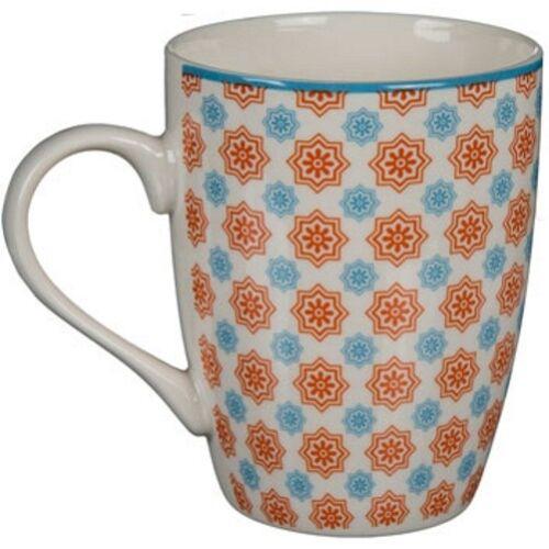 3x New Bone China Kaffee-Becher Kaffeebecher Trinkbecher mit mexikanischem Dekor
