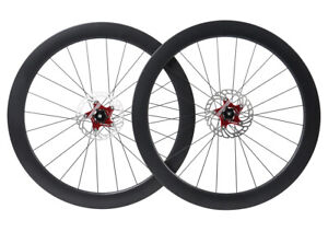 Disc-brake-Carbon-Wheels-Clincher-Tubeless-Road-Bicycle-700C-Floating-Rotor-55mm