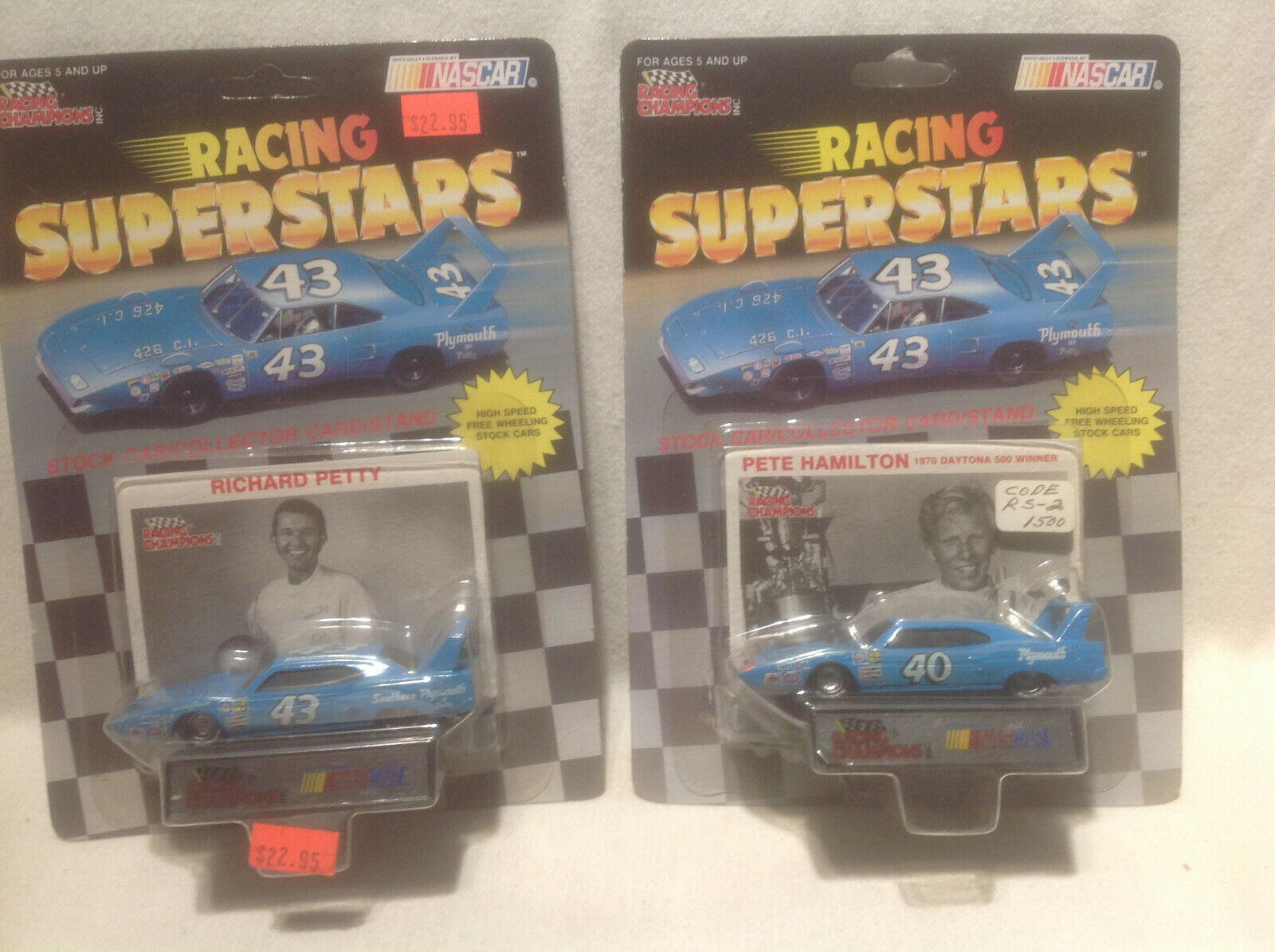RACING CHAMPIONS-RICHARD PETTY, PETE HAMILTON-PLYMOUTH-1 64-RARE EDITIONS