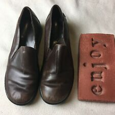736d24e0ecf93 item 1 Clarks Brown Leather Slip-On Wedge Shoes Comfort Casual 74076 Womens  Size 8.5 M -Clarks Brown Leather Slip-On Wedge Shoes Comfort Casual 74076  Womens ...