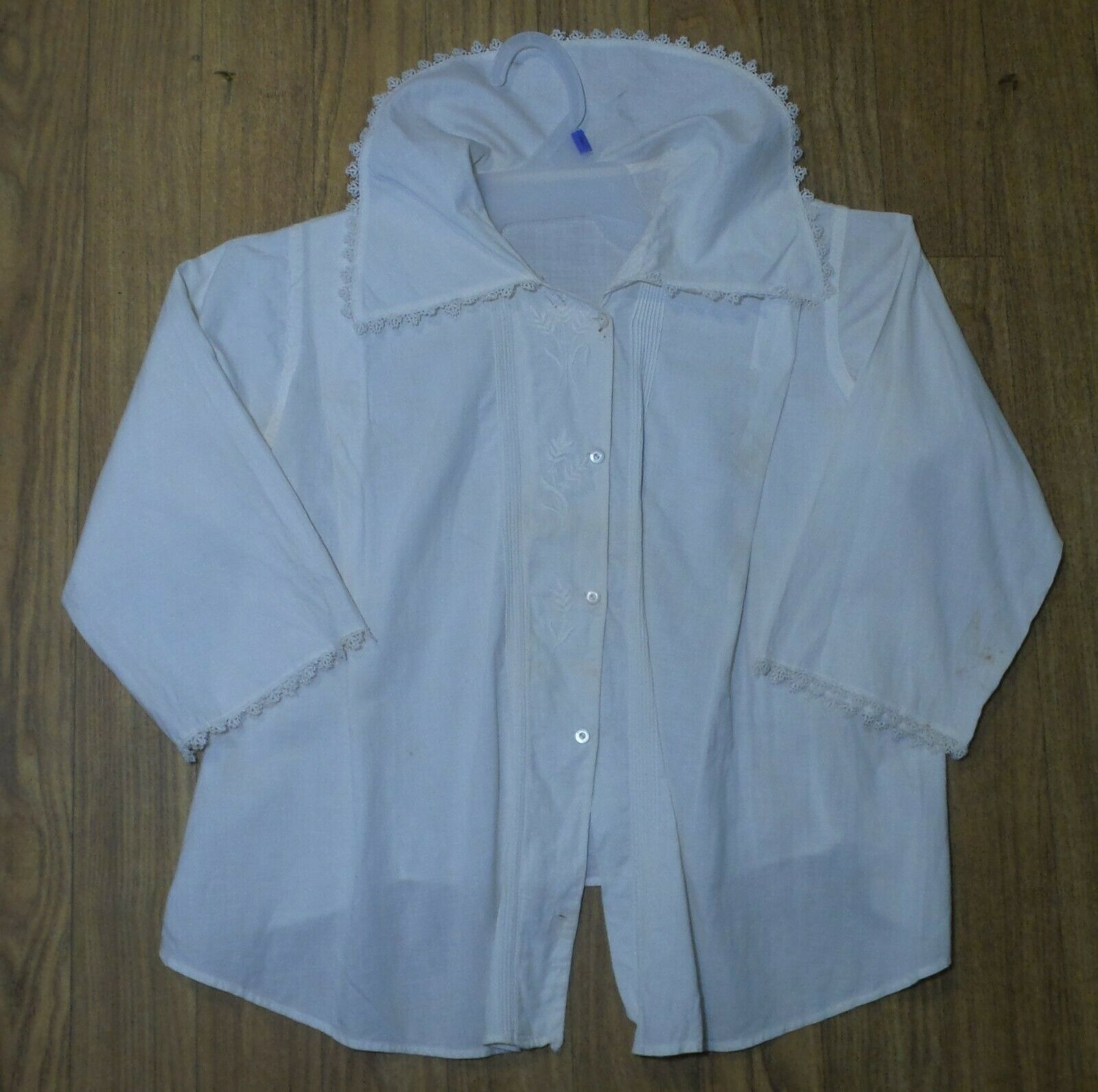 ANTIQUE! Hand STITCHED Women's BLOUSE With LACE C… - image 5