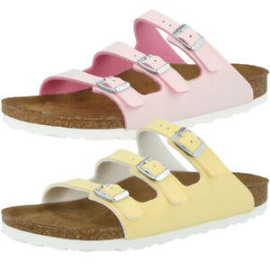 Details zu Birkenstock Florida Fresh Birko Flor Schuhe Brushed Veg2 Sandalen Pantoletten