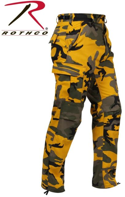 Stinger Yellow Camo BDU Pants 6-Pkt Poly//Cot Military Cargo Pants Rothco 8875