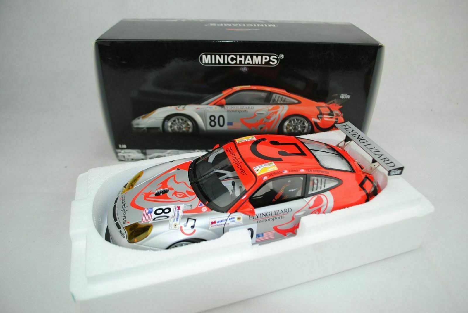 1 18 Minichamps-Porsche 911 gt3 RSR FLYING LIZARD RACING LM 2006  80 Nuovo Scatola Originale