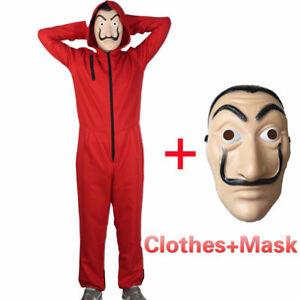 Maschera La casa di Carta-Dalì casa de Papel serie tv Costumi mask Cosplay Rosso