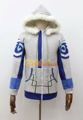 Over OW Mei Ling Zhou Cosplay Costume gray jacket