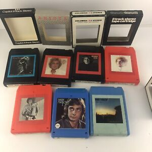 Vintage Lot of 7 Barry Manilow 8 Track Tapes One Voice, Even Now, love again