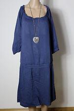 ESPRIT Kleid Gr. 42 blau wadenlang 3/4-Arm Hüft Kleid