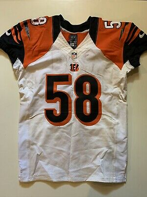 2013 Rey Maualuga Game Used Worn Bengals Jersey USC Patriots NFL Auction PSA/DNA   eBay