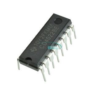 10PCS-CD4022BE-DIP-16-CD4022-DIP16-TI-CMOS-Counter-Dividers-IC