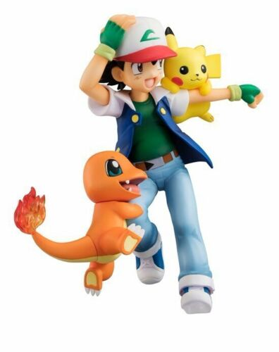 New in Box 4/'/' Ash Ketchum /& Charmander Action Figures PVC Toy Animation Model
