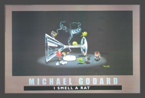 "Michael Godard /""I Smell A Rat/"" 24/""x36/"" Print     Humor gangsters alcohol"
