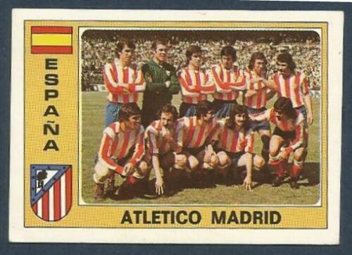PANINI EURO 77 #078-SPAIN-ESPANA-ATLETICO MADRID TEAM PHOTO