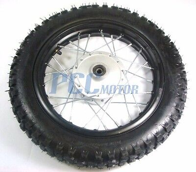 """10/"""" FRONT RIM WHEEL TIRE FOR XR50 CRF CRF50 STOCK DRUM BRAKE 12MM I WM01S"""
