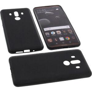 Tasche-fuer-Huawei-Mate-10-Pro-Handytasche-Schutz-Huelle-TPU-Gummi-Case-Schwarz