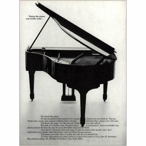 Name the Piano You Really Want Vintage Print Ad 1983 Steinway