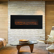 """50"""" 1500W Wall Mount Electric Fireplace Heater 3D Flame Log w/ Remote Control"""