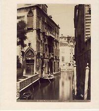 GF047 Venise Venezia palazzo Van Axel rio della Panada albumen vintage print