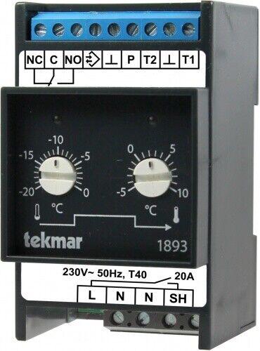 Tekmar Temperaturregler 1893-FGA ohne Zusatzrelais