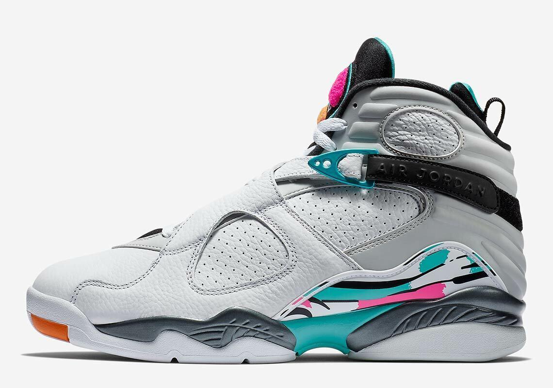 Para hombres Jordan 8 VIII Retro 'Air South Beach' Zapatos- Nuevos