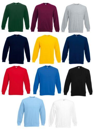 3XL Heavy F324 Fruit of the Loom Herren Sweatshirt Sweater langarm Shirt S