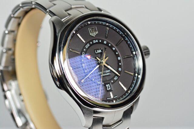 3fd96197c0a TAG Heuer Link Automatic GMT WAT201A.BA0951 Men Watch 24 Hr Black Dial  Bracelet