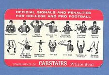 CARSTAIRS WHITE SEAL WHISKEY PROMO OFFICIAL FOOTBALL PENALTY SIGNAL COLLEGE NFL