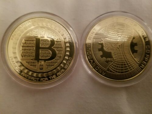 bitcoin coin 24k gold plated token digital currency cryptocurrencie with case