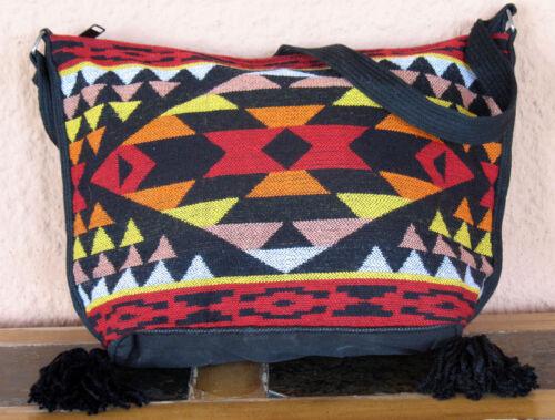 Jacquard Zipper Purse OPNEW-B Southwest Southwestern Design Bag