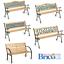miniatura 1 - Panchina da Giardino in legno di Pioppo e ghisa panca esterno schienale decorato