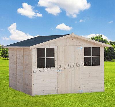 Casetta in di legno box 320x325 porta singola attrezzi for Casette in legno usate ebay