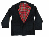 "Donkey Jacket Tartan Lining ""Made in England"" Wool Coat Worker Skinhead Punk Mod"