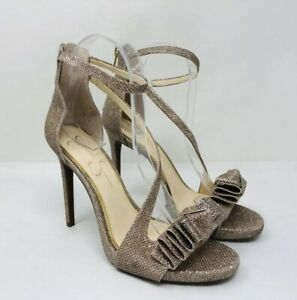 661bd8ed532 Image is loading Jessica-Simpson-Remyia-Bow-Dress-Sandals-Gold-Size-