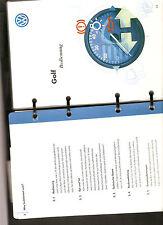 Betriebsanleitung VW GOLF Handbuch Bordbuch Ausgabe 1998 Ringbuch