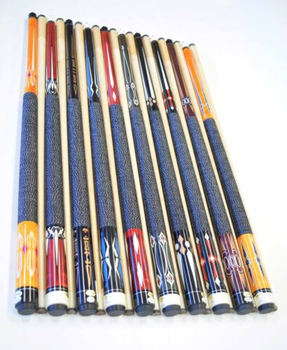 Pool Cue Stick #C FREE SHIP LOT OF 10 POOL CUES New 58/'/' Billiards Cue Stick