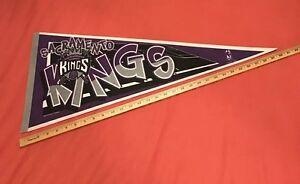 RARE-VINTAGE-1995-SACRAMENTO-KINGS-PENNANT-NBA-BASKETBALL-FULL-SIZE-12x30-034