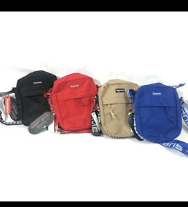 Supreme-Unisex-SS18-Waist-Bag-4-Colors-Red-Blue-Black-Sand