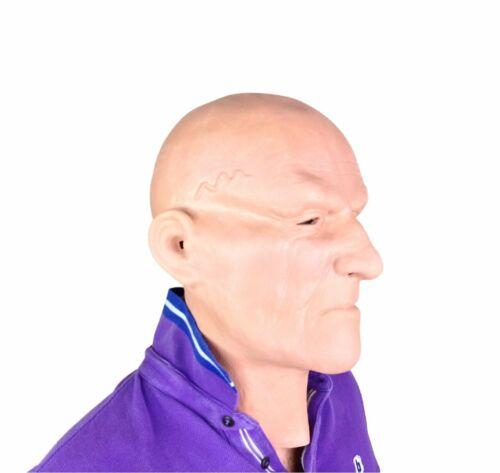 MASCHIO bianco Testa Calva Hard Man Maschera Lattice Costume Accessorio THUG