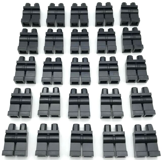 Star Wars Lego X10 New Bulk Lot Plain Black Mini Figures Legs Hip City Pants