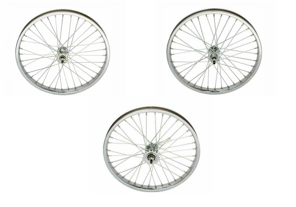 NEW BICYCLE 20  x 2.125   STEEL WHEEL 12G HEAVY DUTY SPOKES CRUISER LOWRIDER BMX  new branded