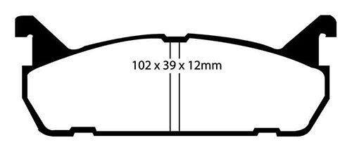 EBC GreenStuff Rear Brake Pads for Mazda MX5 1.6 89-98 DP2828