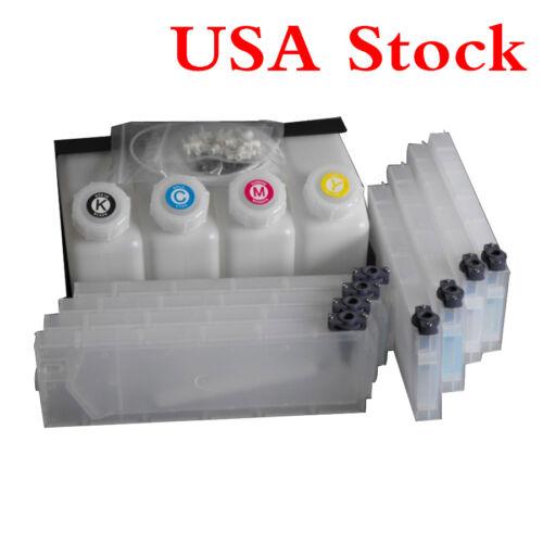 US Stock Roland Mimaki Mutoh Bulk Ink System--4 Bottles 8 Cartridges