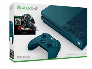 Microsoft Xbox One S Gears of War 4: Special Edition Bundle 500GB Deep Blue Cons